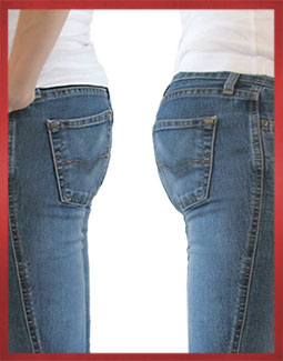 Low-rise Jeans Before and After