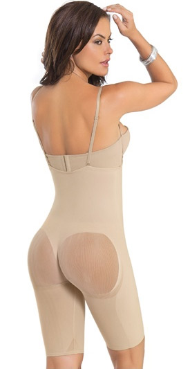 Invisible Open-Bust Bodysuit Shaper