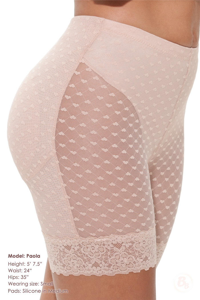 I Heart Curves Padded Mid-thigh Panty