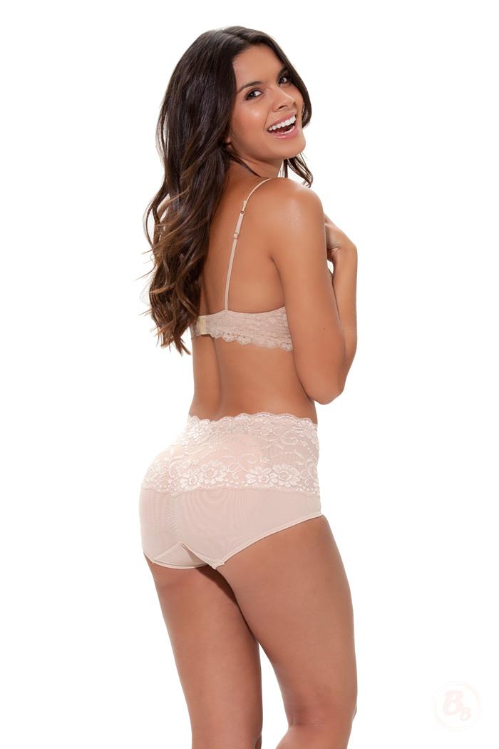 Retro Lace Waist Padded Panties