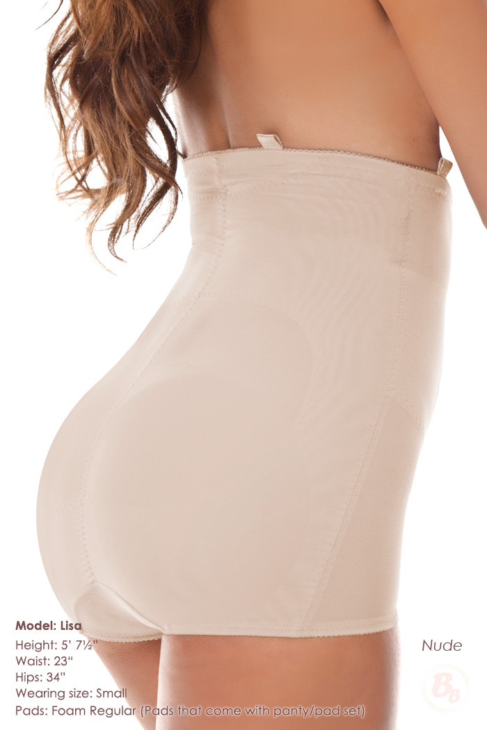 dece2921a339 Padded Butt Booster Bodysuit Highrise Panty