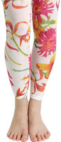 Florida Floral Printed Tights