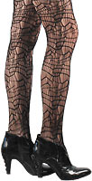 Webbed Textured Tights