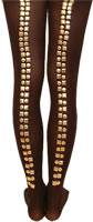 Gold Studded Printed Tights