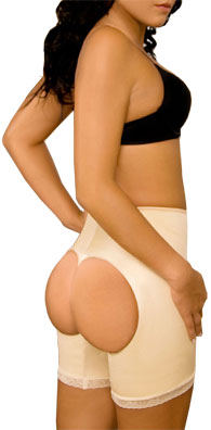 Double-O Butt Lifter Latex Brief IVORY